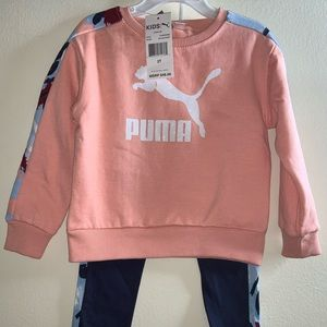 2T puma girls set with extra pants